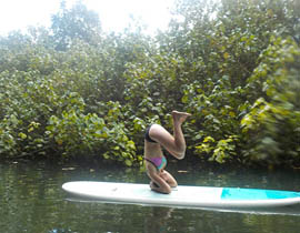yoga on the paddleboard